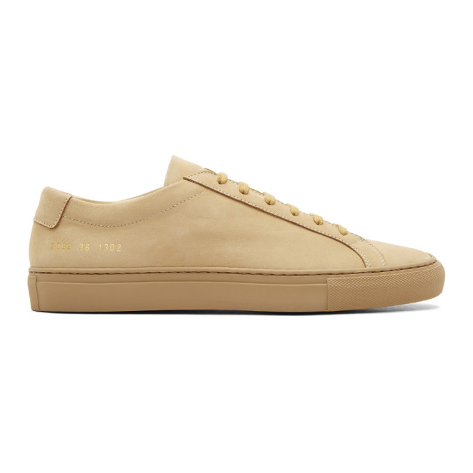 brand new 2cd4c 9723b COMMON PROJECTS. Common Projects Tan Nubuck Original Achilles Low Sneakers  ...