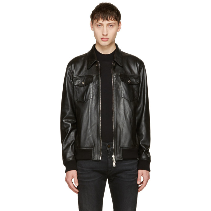 Dsquared2 Black Leather Jacket