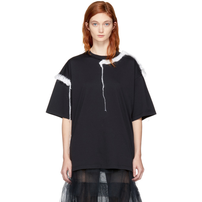 Maison Margiela Black Loose Threads T-Shirt