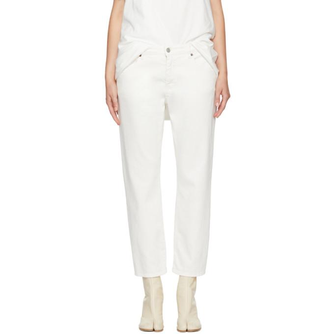 MM6 Maison Martin Margiela Off-White Slim Boyfriend Jeans