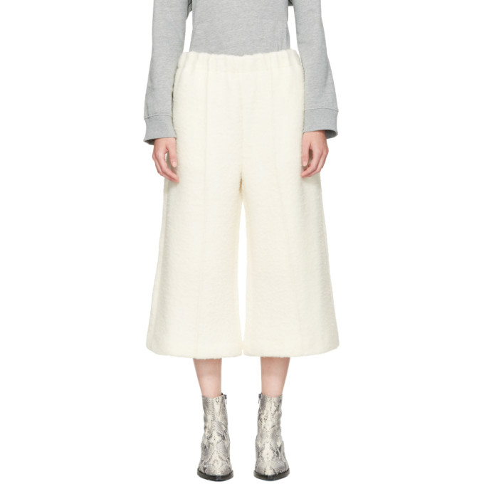 MM6 Maison Martin Margiela Ivory Cropped Casentino Trousers