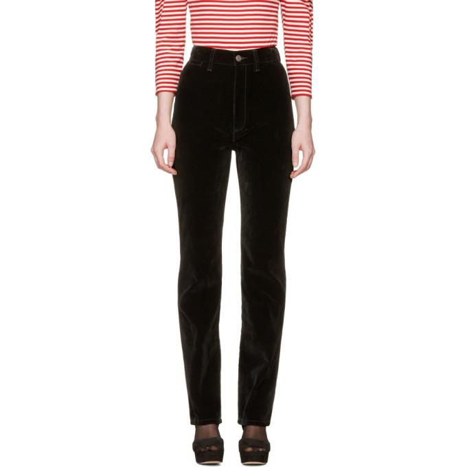Marc Jacobs Black Velvet High-Rise Disco Trousers