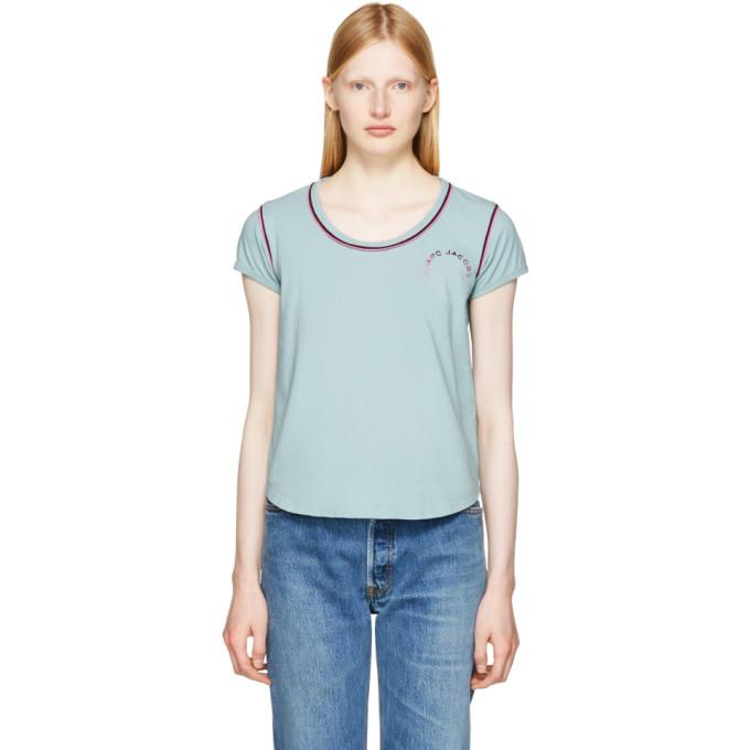 Marc Jacobs Blue 70s Cap Sleeve T-Shirt