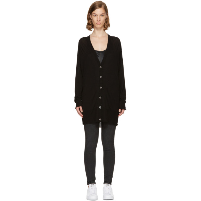 T by Alexander Wang Black Long-Line Cardigan