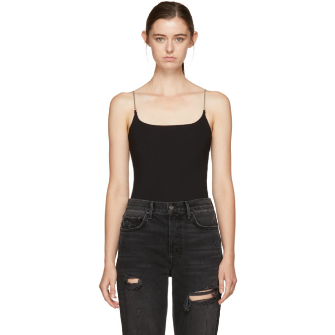 Image of T by Alexander Wang Black Chain Camisole