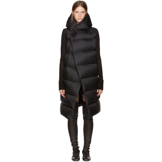 Rick Owens Black Sleeveless Down Liner Jacket