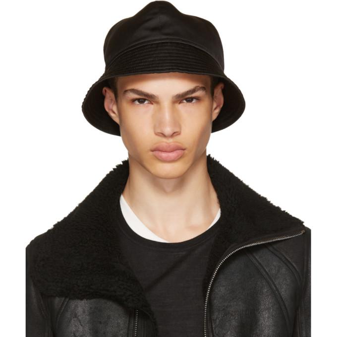 442f28b5693 RICK OWENS Black Gilligan Bucket Hat