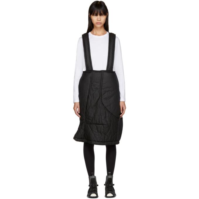 Image of Comme des Garçons Black Padded Suspender Skirt