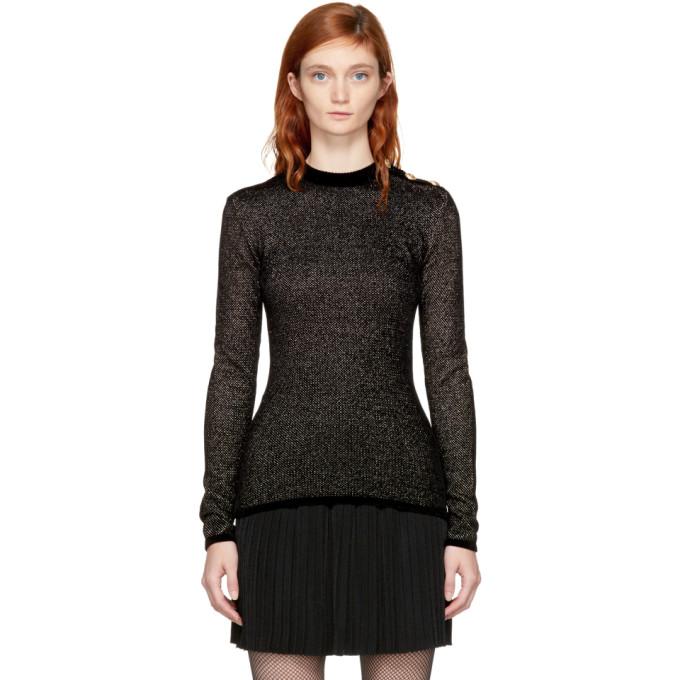Balmain Black & Gold Buttoned Sweater