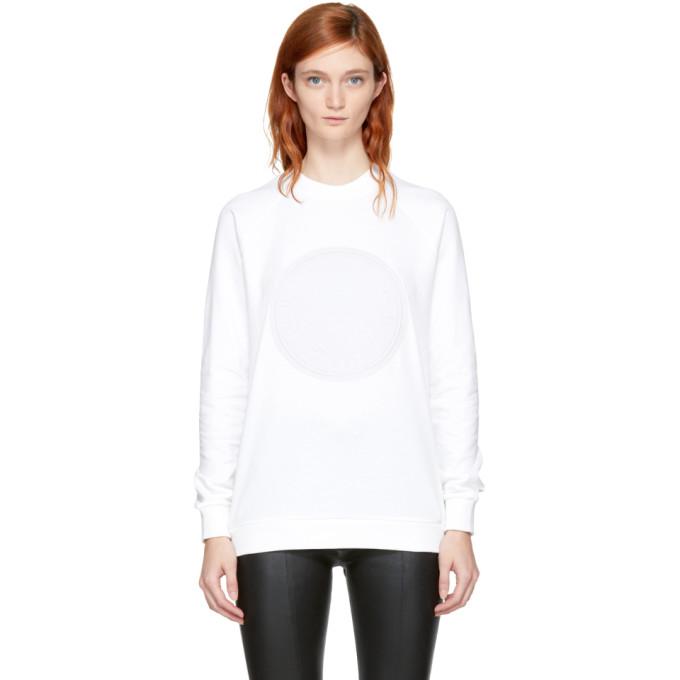 Balmain White Embossed Logo Sweatshirt