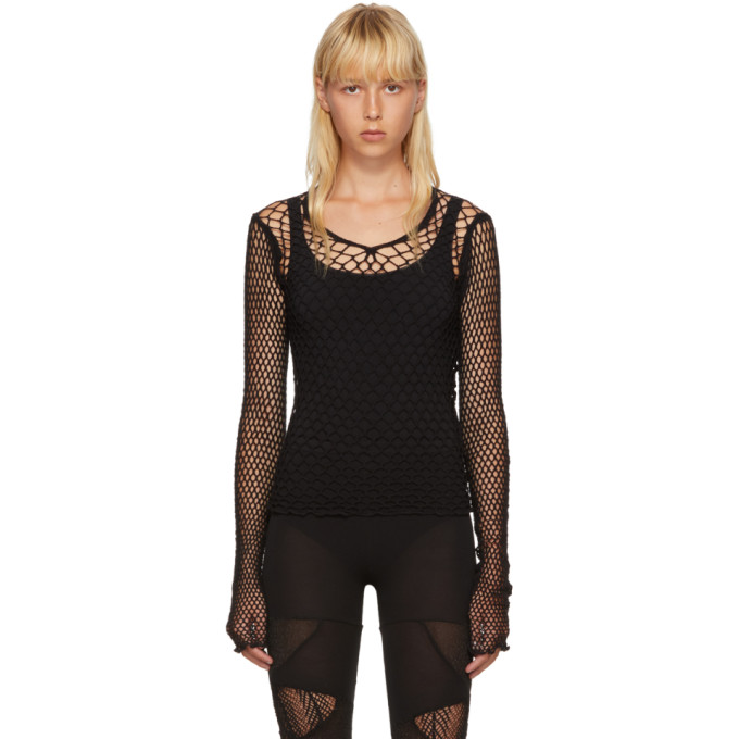 Junya Watanabe Black Net Mesh Sweater