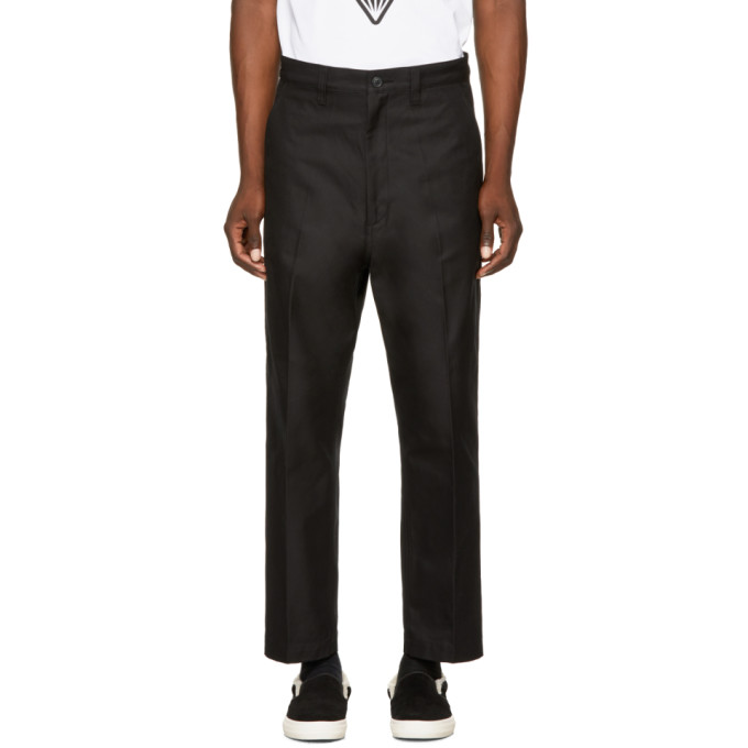 Image of Junya Watanabe Black Cotton Chinos