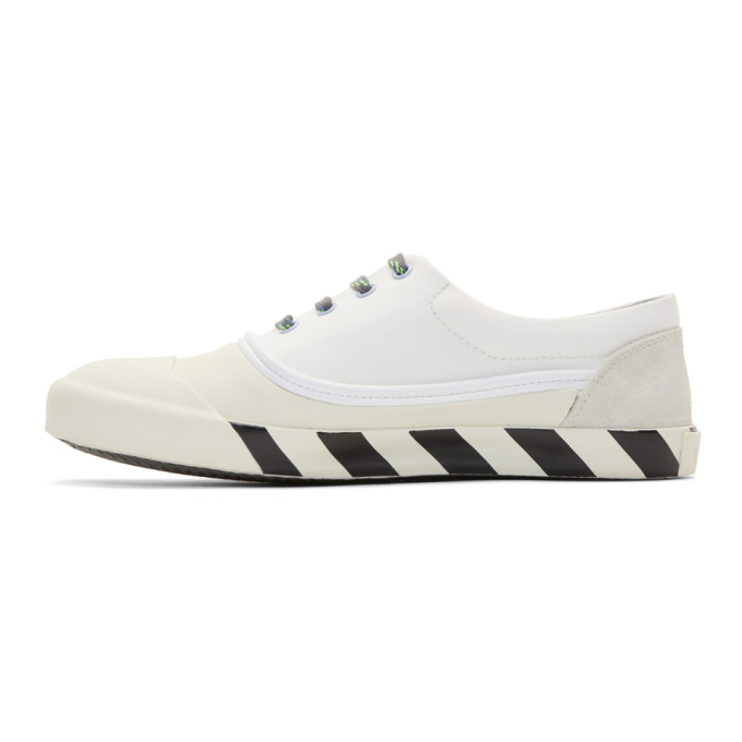 Lanvin White Canvas Oxford Sneakers