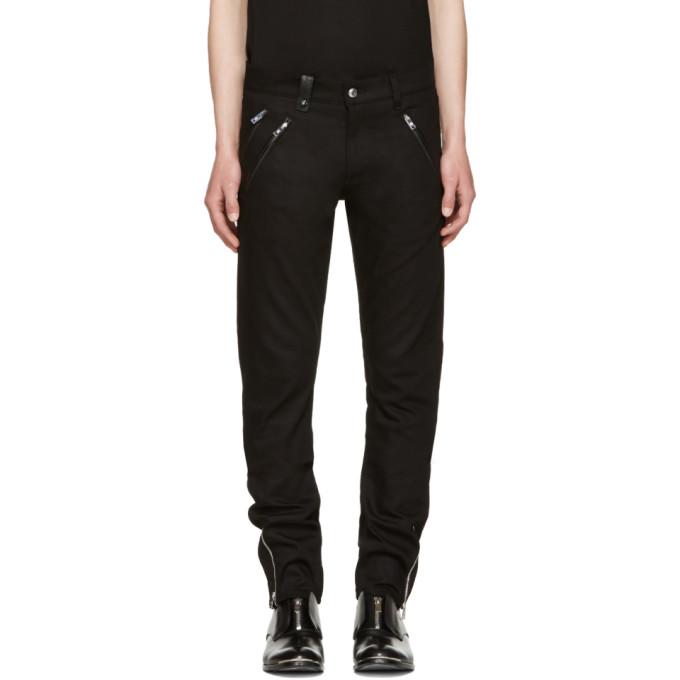 Image of Alexander McQueen Black Biker Jeans
