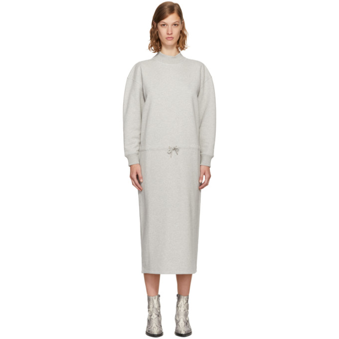 OPENING CEREMONY GREY MOCK NECK SWEATSHIRT DRESS