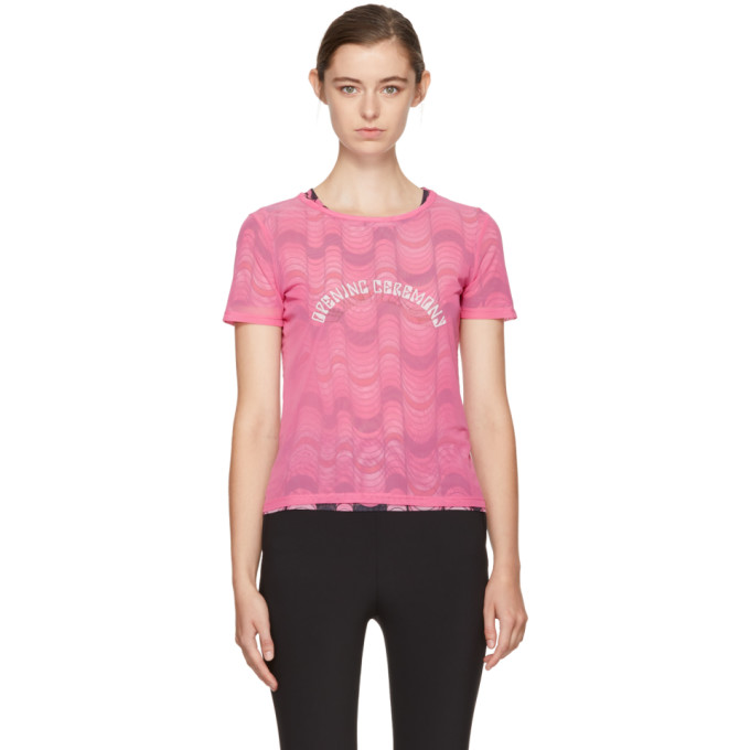 OPENING CEREMONY PINK DOUBLE LAYER T-SHIRT