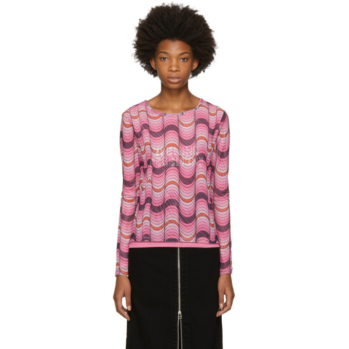 OPENING CEREMONY PINK LONG SLEEVE DOUBLE LAYER T-SHIRT