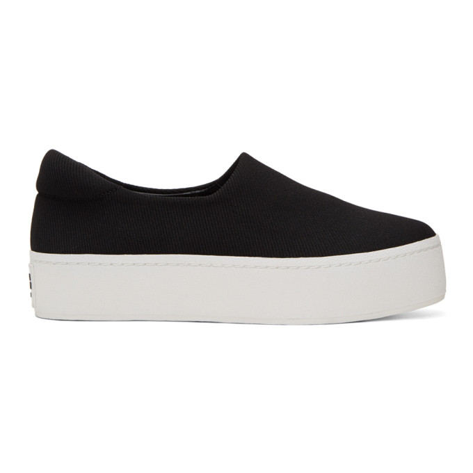 Opening Ceremony Black & White Cici Platform Slip-On Sneakers