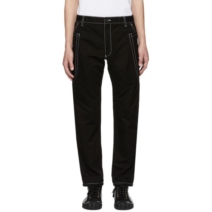 Image of Comme des Garçons Shirt Black Contrast Stitch Skinny Trousers
