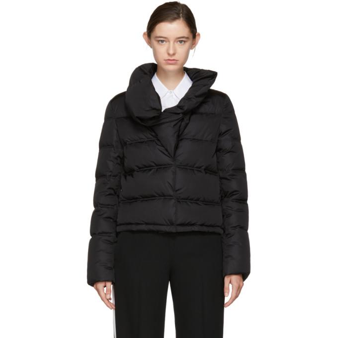 Givenchy Black Down Ruffle Collar Puffer Jacket