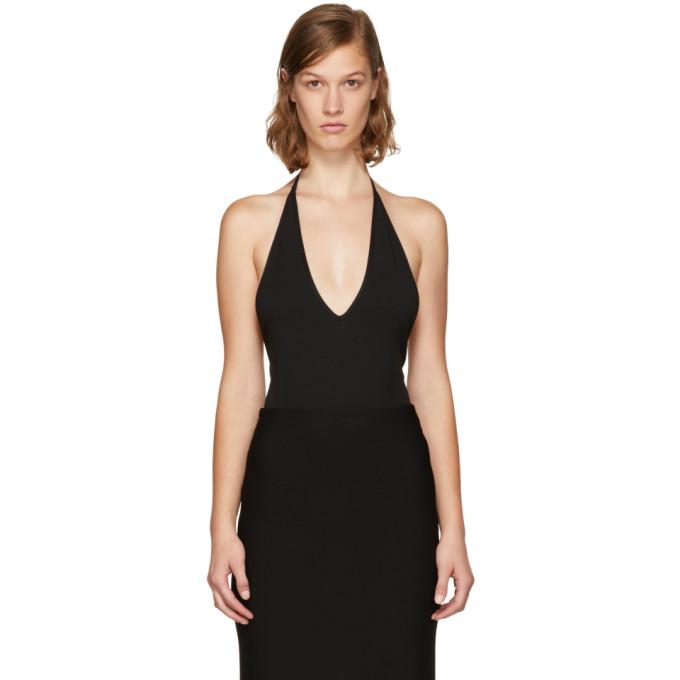 Givenchy Black Deep V Bodysuit