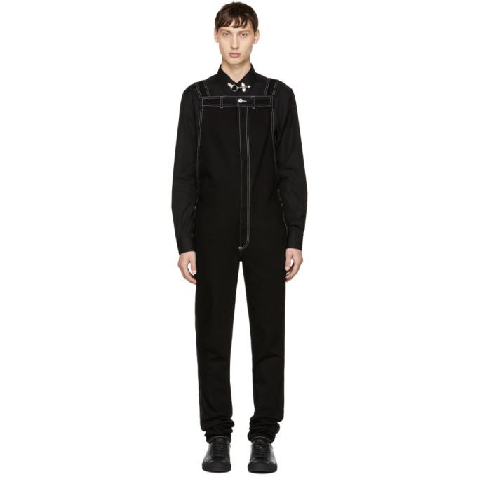 Givenchy Black Denim Overalls