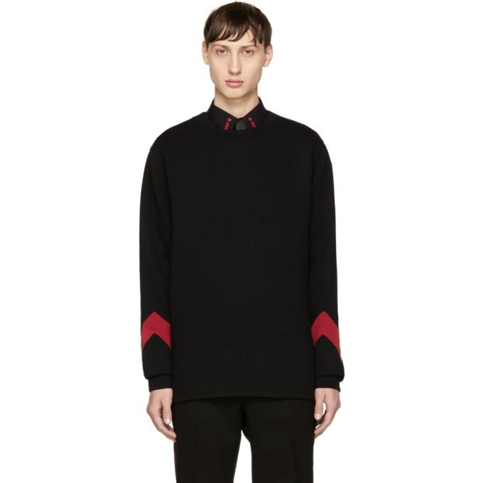 Givenchy Black & Red Cuff Sweatshirt