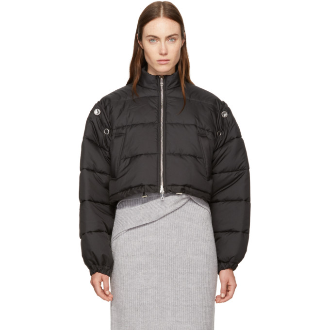 31 Phillip Lim Black Cropped Puffer Ski Coat