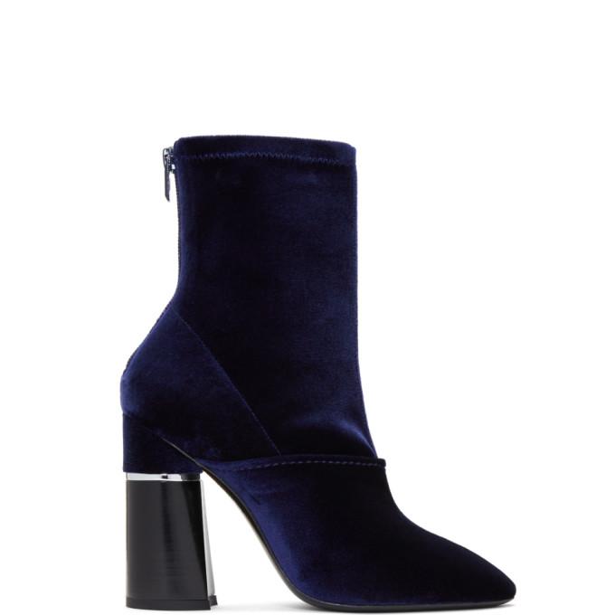 31 Phillip Lim Blue Velvet Kyoto Boots