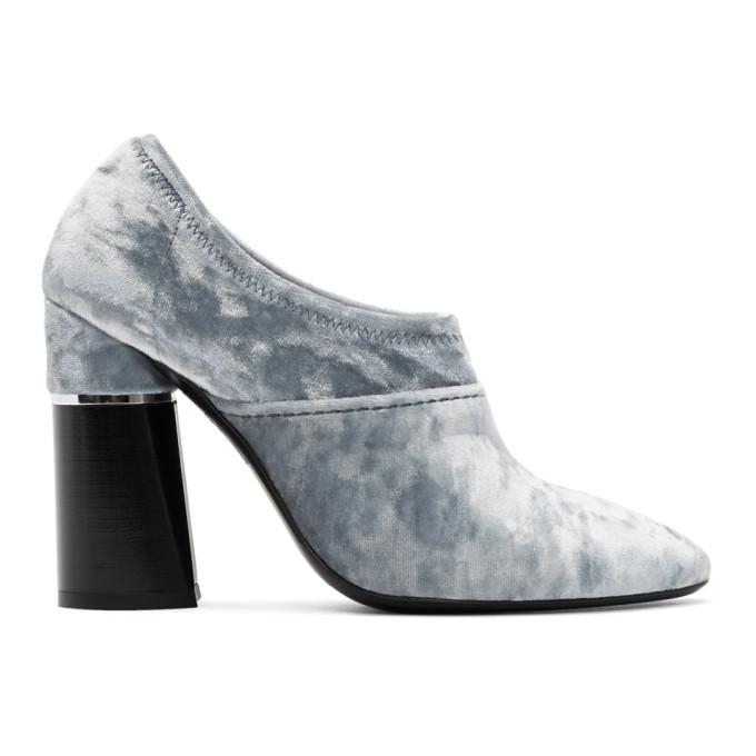 31 Phillip Lim Blue Velvet Kyoto Ankle Boots