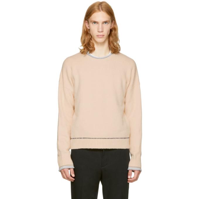 Image of 3.1 Phillip Lim Beige Plaited Boxy Sweater