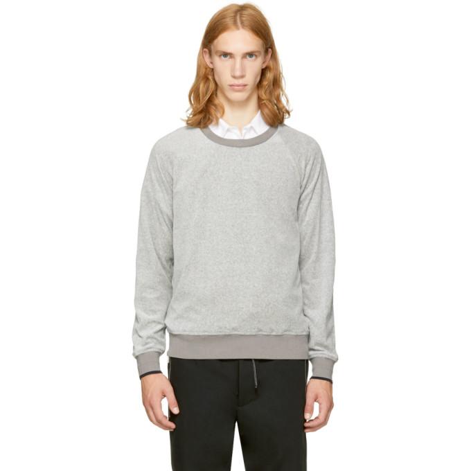 31 Phillip Lim Grey Velour Sweatshirt