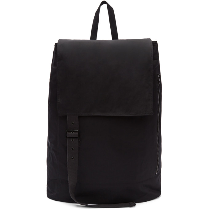 Raf Simons Black Eastpak Edition Large Toploader Flap Backpack