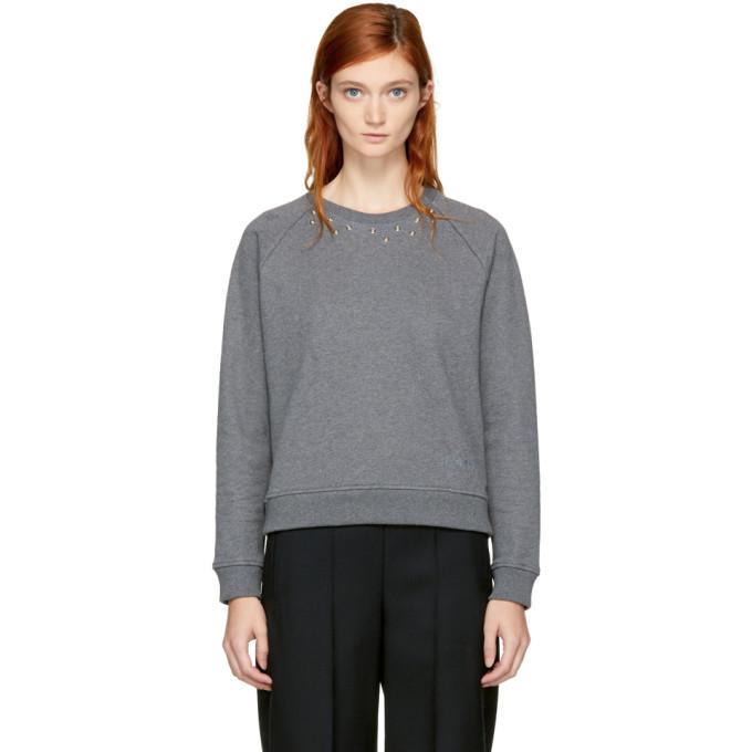 Carven Grey Studs Sweatshirt