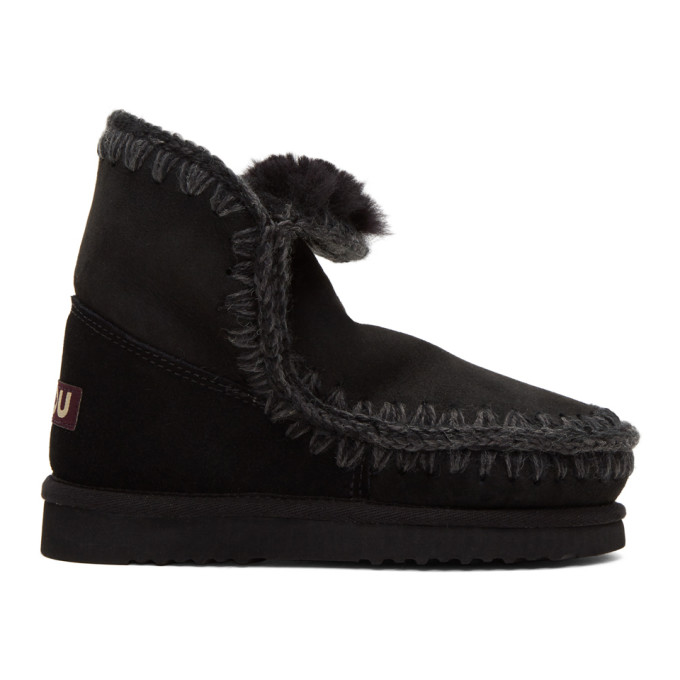 Image of Mou Black Eskimo 18 Boots
