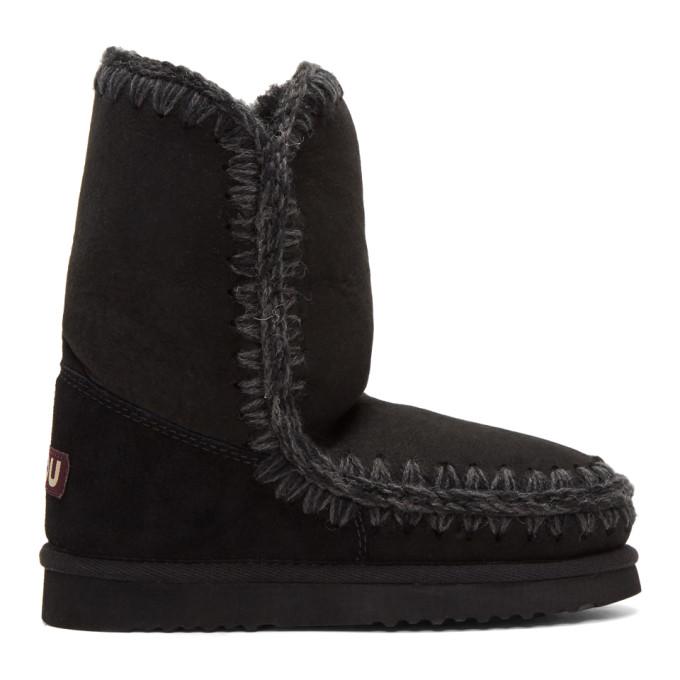 mou female mou black eskimo 24 boots