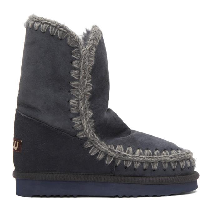 mou female mou navy eskimo 24 boots