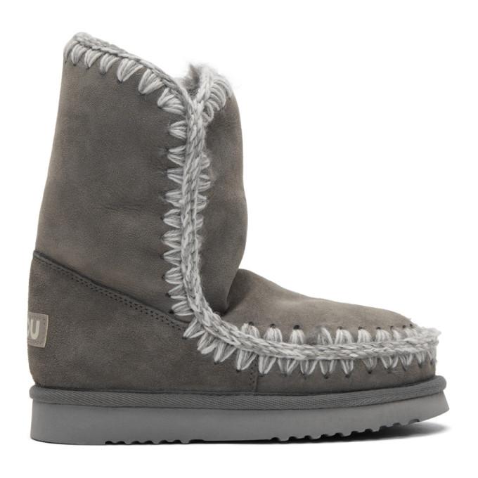mou female mou grey eskimo 24 boots