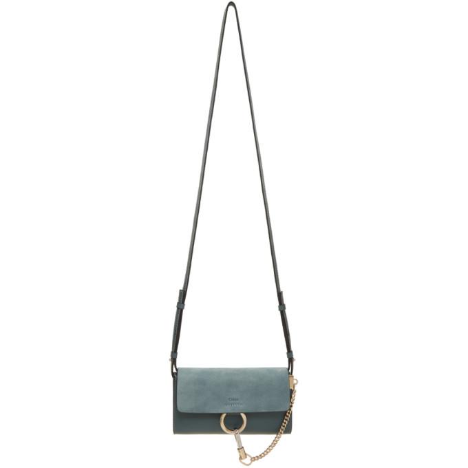 Chloe Blue Faye Wallet Bag