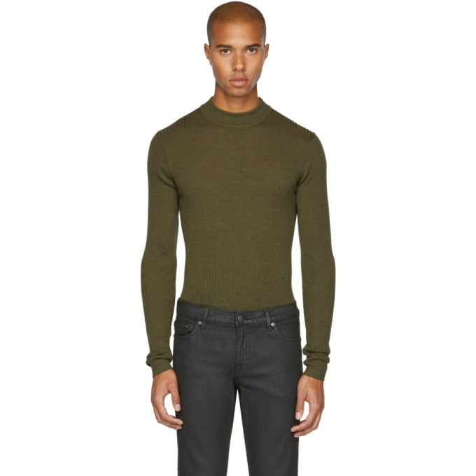 Image of BLK DNM Green Skinny Rib '84' Sweater