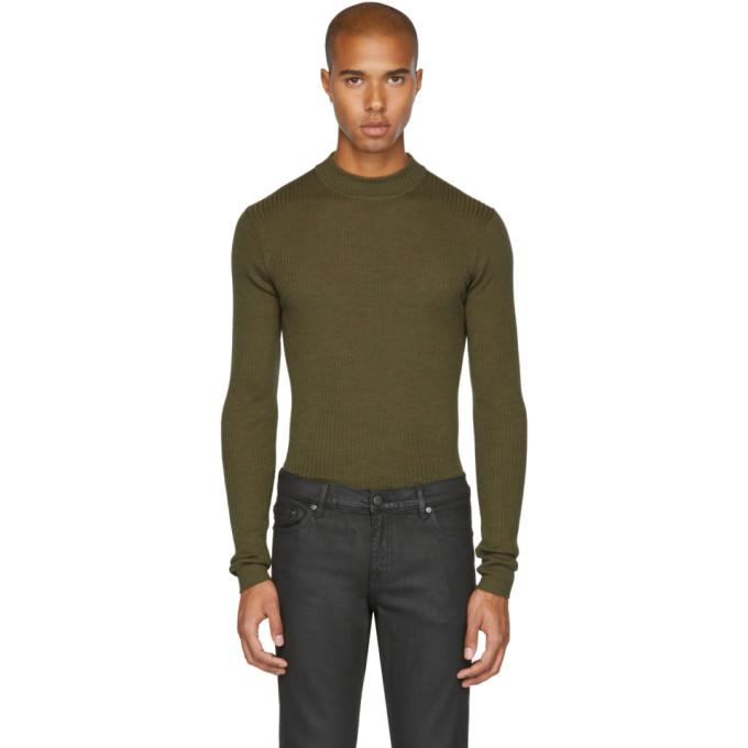Image of BLK DNM Green Skinny Rib '84' Sweater