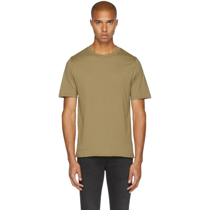 Image of BLK DNM Tan '125' Raw Crewneck T-Shirt
