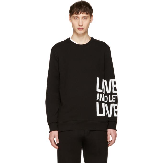 Neil Barrett Black Live & Let Live Sweatshirt