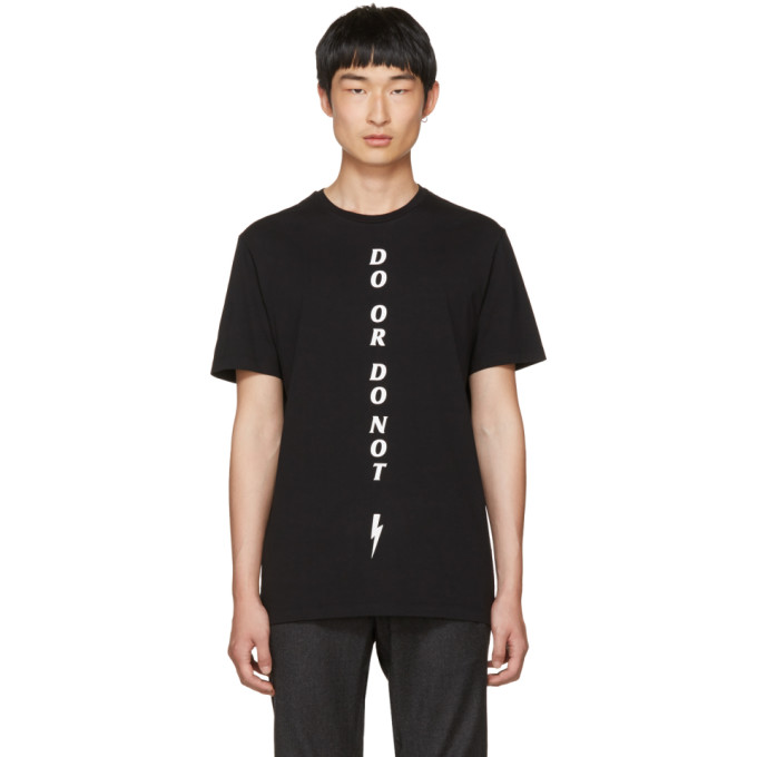 Neil Barrett Black Do or Do Not T-Shirt