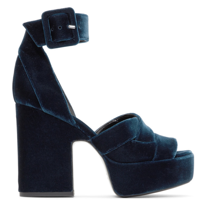 Image of Pierre Hardy Blue Maxi Candy Sandals