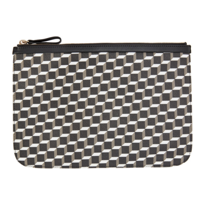 Pierre Hardy Black & White Perspective Cube Pouch
