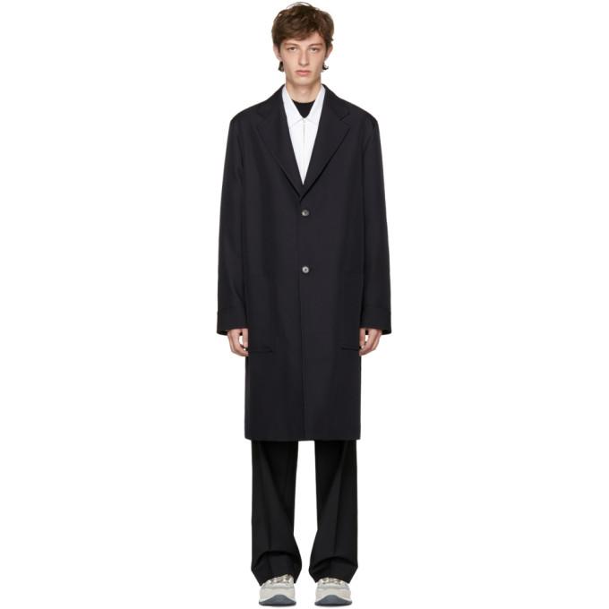 MARNI Navy Long Coat