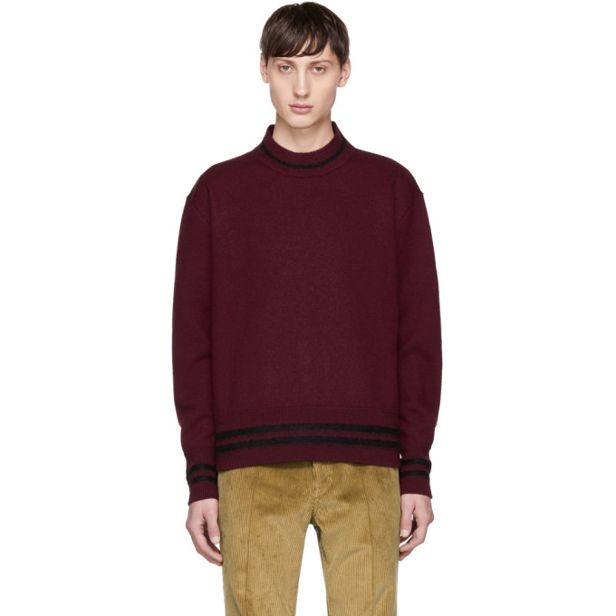 MARNI Burgundy Crewneck Sweater