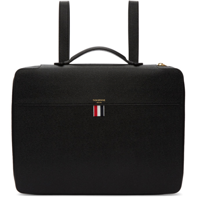 Thom Browne Black Folio Briefcase