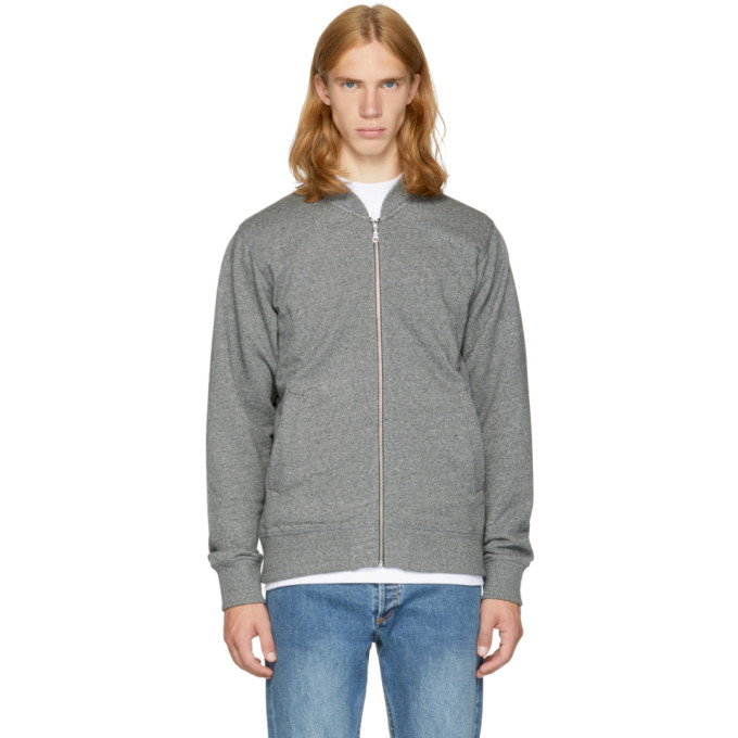 Kenzo Grey French Terry Tiger Bomber Jacket